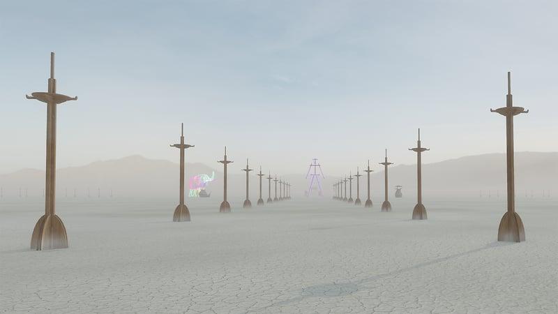 Virtual Playa 2021 - an homage to Burning Man