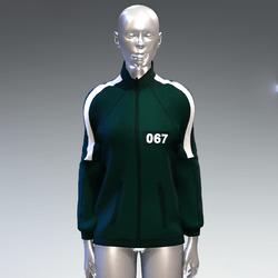 """Squid game"" style sweat jacket female 067"