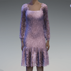 Grey violet lace dress