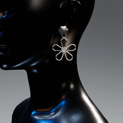 Petunia earrings - platina