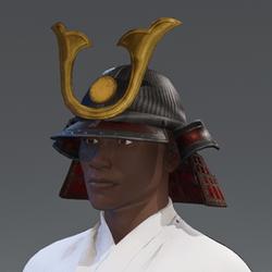 Samurai Helmet - Red/Gold
