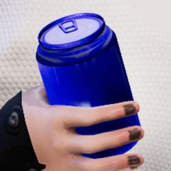 Bottle d-blue in arm