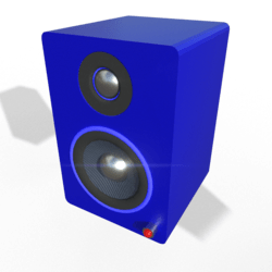 Small Desktop Speakers w/ Glow Ring (Blue)