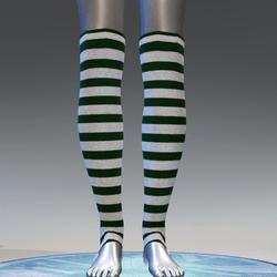 Elf leg warmers for female avatar 2 - green