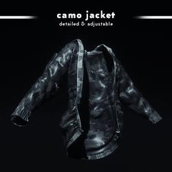 Camouflage Jacket (Charcoal)