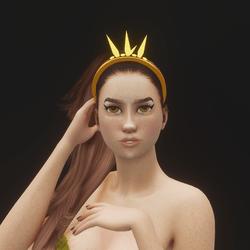 Mermaid Crystal Tiara 05 (Glowing)