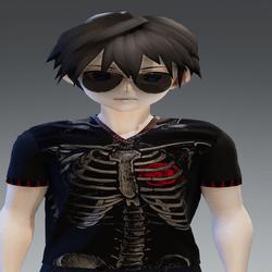 Shirt Heart in Ribs