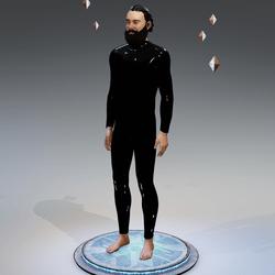 Black PVC Bodysuit