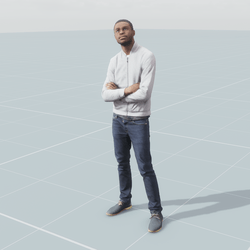 Casual guy 3D scan static model