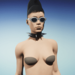 spiked fetish  collar