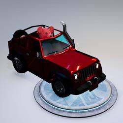 Red Teddy Car