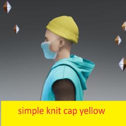 simple knit cap yellow