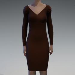 Long sleeve brown dress
