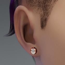 timer ball earrings