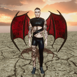Demon Wings Red (Male/Female) Succubus and Incubus