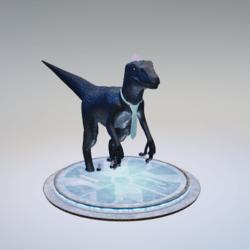 raptor tie blue