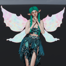 Animated Light Fairy Wings [Necklace Slot]