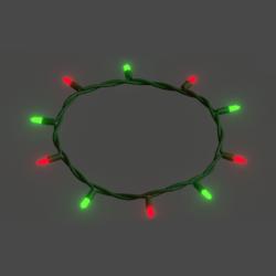 Animated Emissive Xmas Lights Necklace