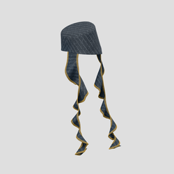 Trailblazing Hat chalk gray stipes