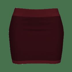 Woman Simple Skirt - Dark Red