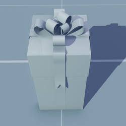 Gift Tall Square with White Bow