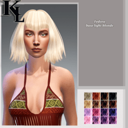 fedora -base light blonde