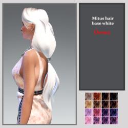 mitus hair -base white -DEMO