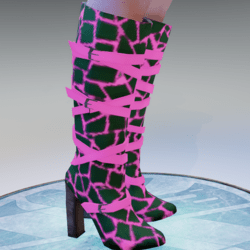 StringBootsPink