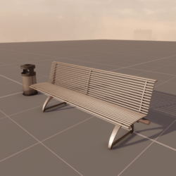 bench and basket