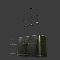 Metal Bar Counter