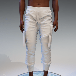 Cargo Pants for male in white