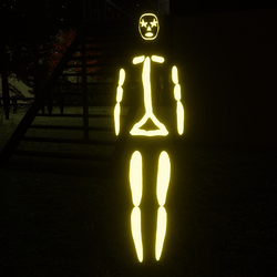 Yellow Emissive Rigged Stick Woman Avatar