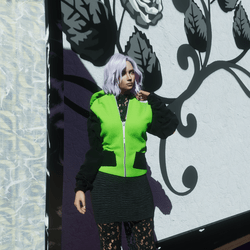 Green dog hoodie
