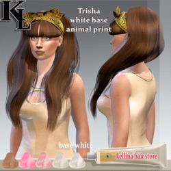 trisha hair -white base -animal print