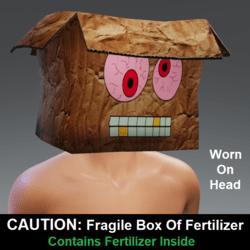 CAUTION: Fragile Box Of Fertilizer - Mask