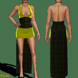 Yellow lace w collar