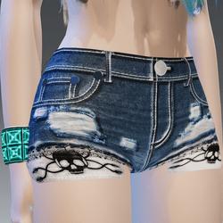 Skulls & Lace Favorite Blue Shorts - Female