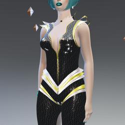 Futuristic Vigent Carbon Suit - Female