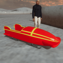 Ridable Bobsleigh