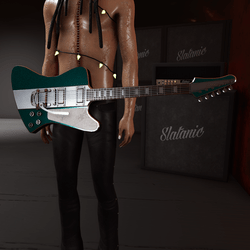 Slatan-o-lux guitar (teal)