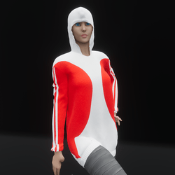 Hoodie Dress Red (TM)