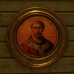 Round religious painting