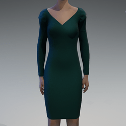 Long sleeve emerald dress