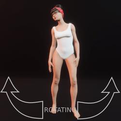 modelpose 09 rotating