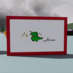 Unicorn Dino Painting
