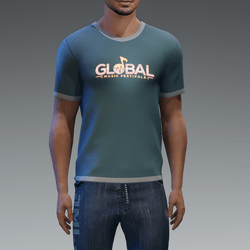 Global T-shirt Male Glowing