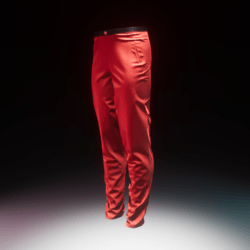Trousers Silk Red male