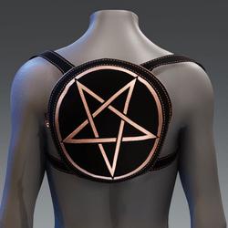 Metallic Pentagram Backpack [Orange]