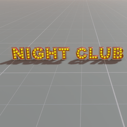 Letters Bulb Sign