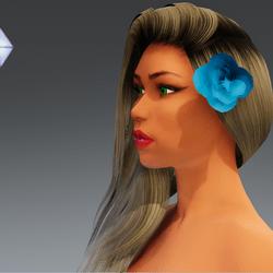 Rose for Hair #3
